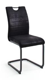 Krzesło na płozie BILBAO - vintage czarny