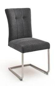 Krzesło plamoodporne na sprężynach CALANDA E - antracyt