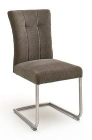 Krzesło plamoodporne na sprężynach CALANDA E - cappuccino