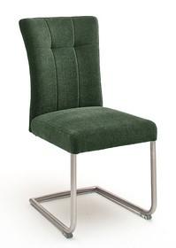 Krzesło plamoodporne na sprężynach CALANDA E - oliwkowy