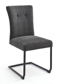 Krzesło plamoodporne na sprężynach CALANDA S - antracyt