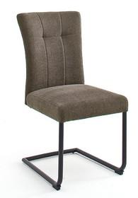 Krzesło plamoodporne na sprężynach CALANDA S - cappuccino