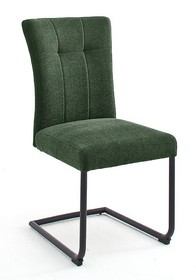 Krzesło plamoodporne na sprężynach CALANDA S - oliwkowy
