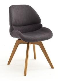 Krzesło obrotowe HENDERSON - antracyt/dąb