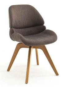 Krzesło obrotowe HENDERSON - cappuccino/dąb