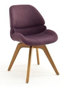 Krzesło obrotowe HENDERSON - bordowy/dąb