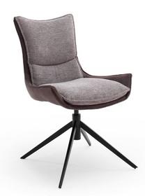 Krzesło obrotowe KITAMI - brązoworudy