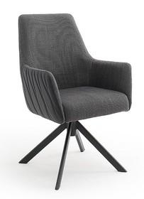 Krzesło obrotowe na sprężynach REYNOSA - antracyt