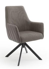 Krzesło obrotowe na sprężynach REYNOSA - cappuccino