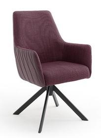 Krzesło obrotowe na sprężynach REYNOSA - bordowy