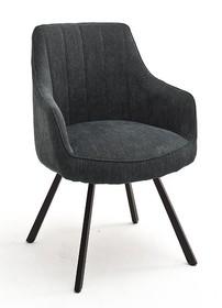 Krzesło obrotowe na sprężynach SASSELLO - antracyt