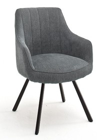 Krzesło obrotowe na sprężynach SASSELLO - szary