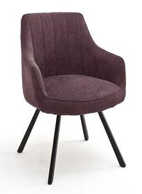 Krzesło obrotowe na sprężynach SASSELLO - bordowy