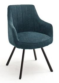 Krzesło obrotowe na sprężynach SASSELLO - turkusowy