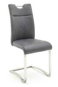 Krzesło ZAGREB E - skóra premium szara