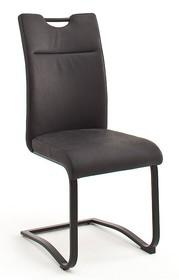 Krzesło ZAGREB S - skóra premium antracyt