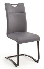 Krzesło ZAGREB S - skóra premium szara