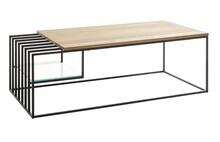 Stolik kawowy JUBA 120x60 - drewno dębowe