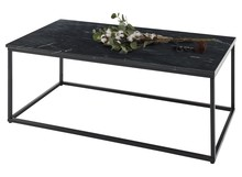 Stolik prostokątny TAURI - czarny marmur