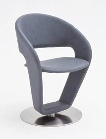 Krzesło obrotowe FIRONA - szaroniebieski