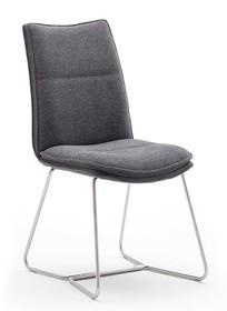 Krzesło tapicerowane HAMPTON E - antracyt/stal