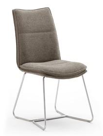 Krzesło tapicerowane HAMPTON E - cappuccino/stal
