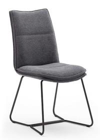 Krzesło tapicerowane HAMPTON S - antracyt/czarny