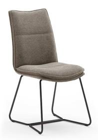 Krzesło tapicerowane HAMPTON S - cappuccino/czarny
