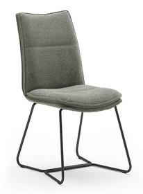 Krzesło tapicerowane HAMPTON S - oliwkowy/czarny