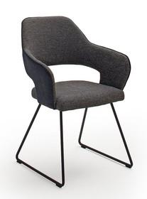Krzesło na płozach NEWCASTLE K - czarny