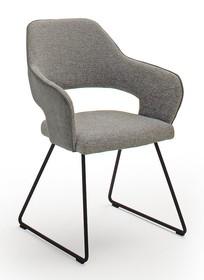 Krzesło na płozach NEWCASTLE K - szary
