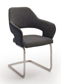 Krzesło na płozie NEWCASTLE S - czarny