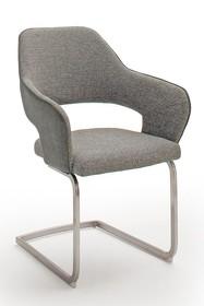 Krzesło na płozie NEWCASTLE S - szary