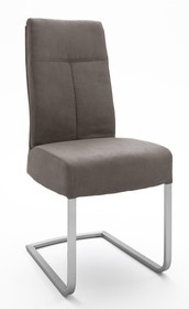 Krzesło na sprężynach TALENA - jasny brąz