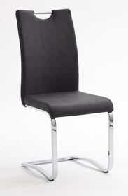 Krzesło tapicerowane TIA - antracyt