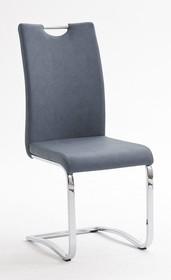 Krzesło tapicerowane TIA - szaroniebieski