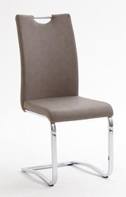 Krzesło tapicerowane TIA - taupe