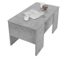 Stolik z podnoszonym blatem 311312E - optyka betonu
