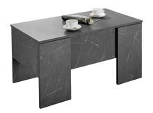 Stolik z podnoszonym blatem 311312E - marmur antracyt