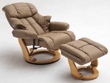 Fotel z podnóżkiem CALGARY - muddy/naturalny