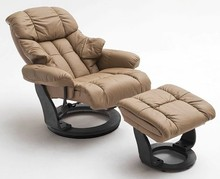 Fotel z podnóżkiem CALGARY - muddy/czarny