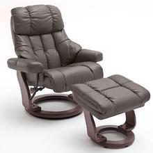 Fotel z podnóżkiem CALGARY XXL - brązowy