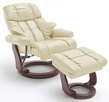 Fotel z podnóżkiem CALGARY XXL - kremowy