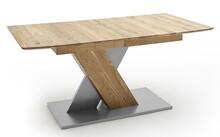 Stół rozkładany CUBA 1 - dąb dziki/aluminium mat