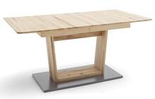 Stół rozkładany CUBA 2 - buk rdzeniowy/aluminium mat