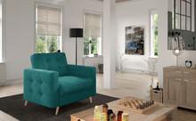 Fotel pikowany ASGARD 1F - tkanina Kronos 13