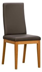 Krzesło tapicerowane VIRGO - podstawa dębowa - PRESTIGELINE