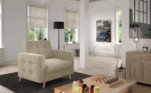 Fotel pikowany ASGARD 1F - tkanina Paros 02