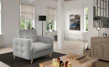 Fotel pikowany ASGARD 1F - tkanina Sawana 21