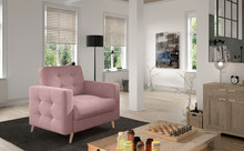 Fotel pikowany ASGARD 1F - tkanina Soro 61